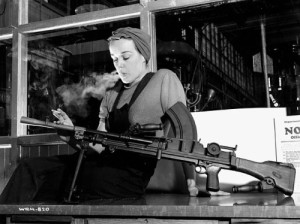 Rosie the Riveter was fiction. Ronnie the Bren Gun Girl, a Canadian who worked for John Inglis. Co. making Bren machine guns, was for real.